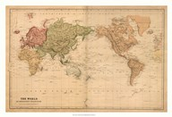 Map of the World, c.1800&#39;s (mercator projection)