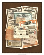 Stock Certificate Collection Art