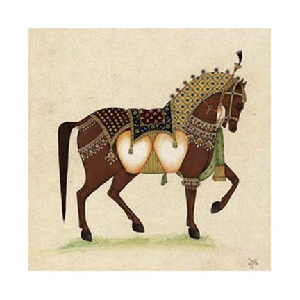 Framed Horse from India II Print