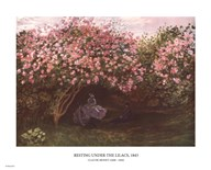 Resting under the Lilacs  Fine Art Print