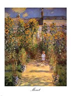 The Artist's Garden at Vetheuil with Boy, c.1880  Fine Art Print