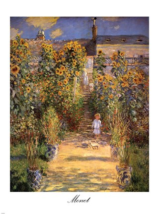 The Artist S Garden At Vetheuil With Boy C 1880 Fine Art