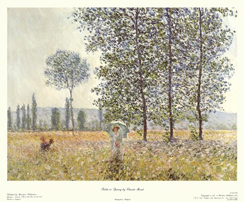 Framed Fields in Spring, 1884 Print