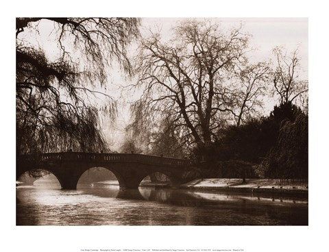 Framed Clare Bridge, Cambridge Print