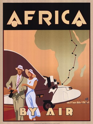 Framed Africa by Air Print