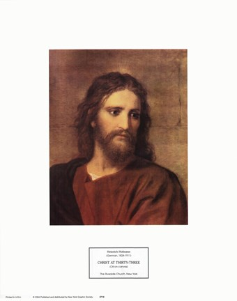 Framed Christ at Thirty-Three Print