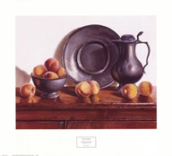 Peaches & Pewter  Fine Art Print