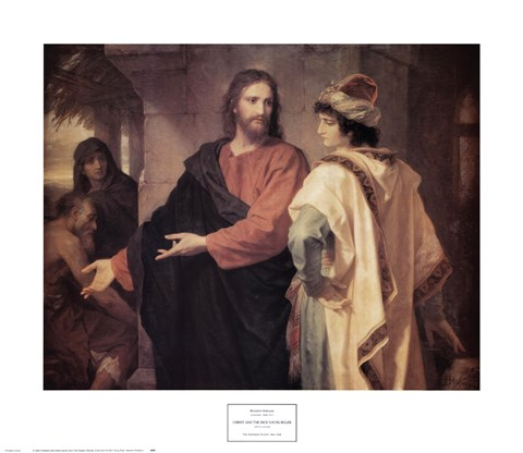 Framed Christ and the Rich Young Ruler Print