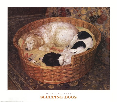 Framed Sleeping Dogs Print