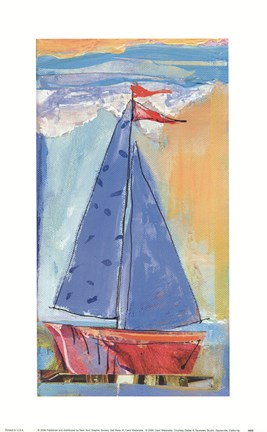 Framed Sail Away III Print