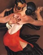 Femme au Robe Rouge  Fine Art Print