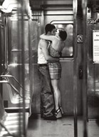Subway Kiss  Fine Art Print