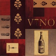 Vino in Red I  Fine Art Print