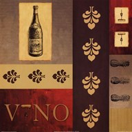Vino in Red II Art