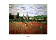 Field of Poppies, Vetheuil Art