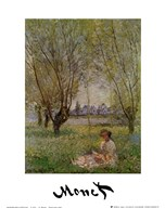 Woman Under the the Willow  Fine Art Print