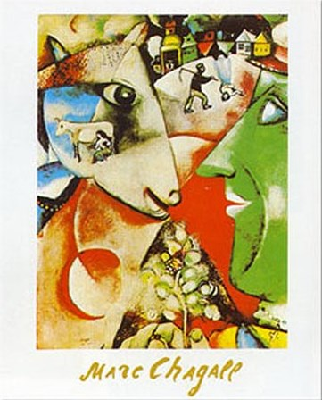 I and the Village by Marc Chagall art print