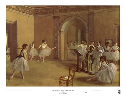 Framed Dance Foyer at the Opera Print