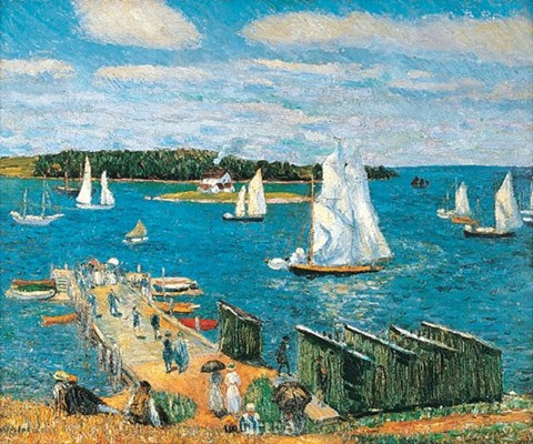 Framed Mahone Bay, 1911 Print