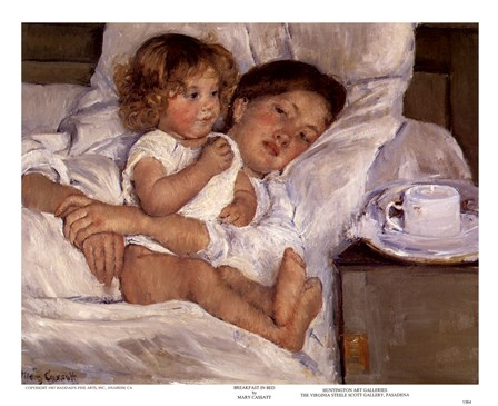 Breakfast in Bed by Mary Cassatt art print