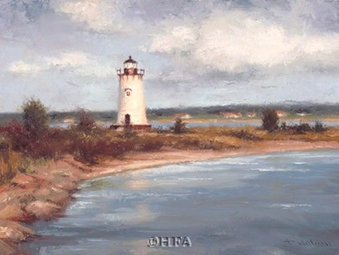 Framed Edgartown Lighthouse Print