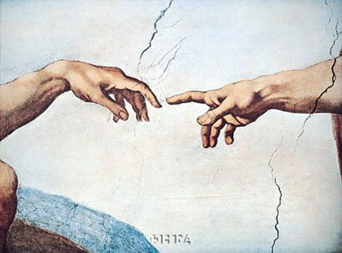 The Hands Of God And Man Fine Art Print By Michelangelo