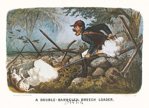Framed Double-Barreled Breech-Loader Print