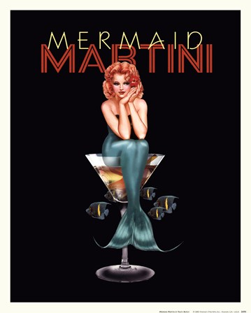 Mermaid Martini by Ralph Burch art print