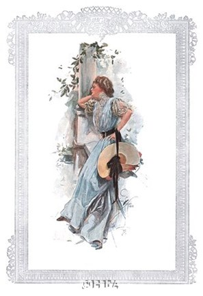 Framed Fashion Modes - In the Garden Print
