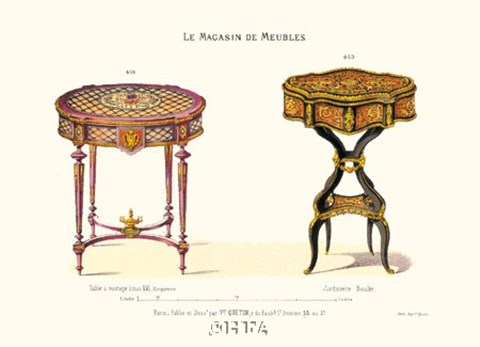 Framed Antique Tables - hand crafted Print