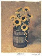 Nine Sunflowers