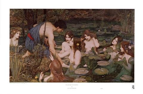 Framed Hylas and the Nymphs Print