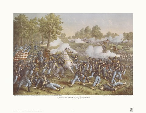 Framed Battle of Wilson's Creek Print
