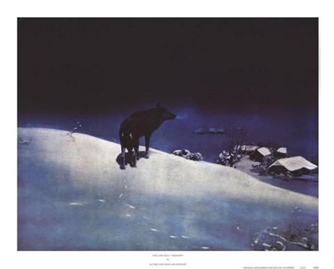 Lone Wolf February Fine Art Print By Alfred Von Kowalski