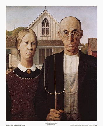 Framed American Gothic Print