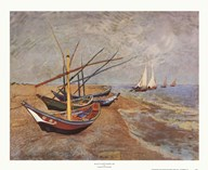 Boats at Saint-Maries, 1888  Fine Art Print