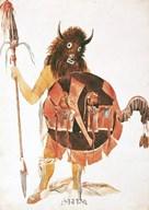 Leader of Mandan Buffalo Bull Society  Fine Art Print