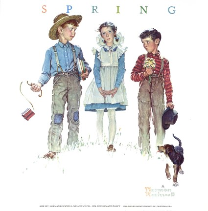 Framed Young Man's Fancy Print