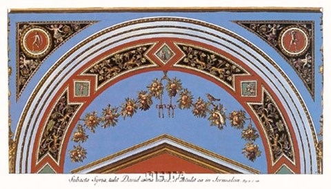 Framed Detail/Loggia in the  Vatican II Print