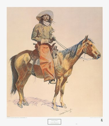 Arizona Cowboy Fine Art Print By Frederic Remington At