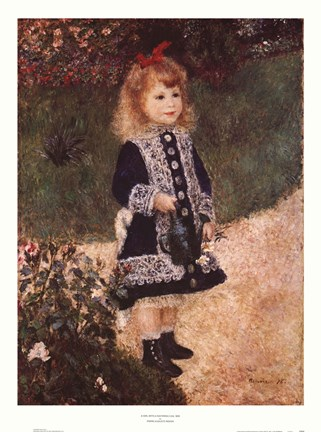 Girl With A Watering Can Fine Art Print By Pierre Auguste