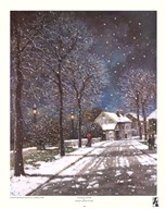 Village in Winter  Fine Art Print