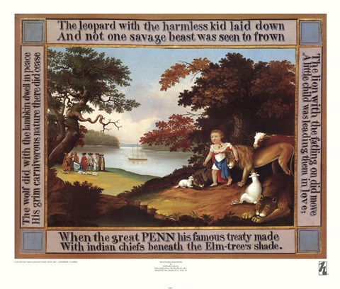 Framed Peaceable Kingdom Print