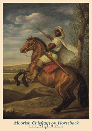 Framed Moorish Chieftain on Horseback Print