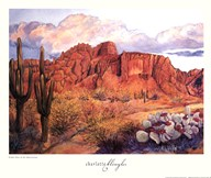 Golden Hour of the Superstitions  Fine Art Print