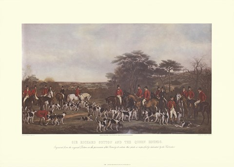 Framed Sir Richard Sutton and the Quorn Hounds Print