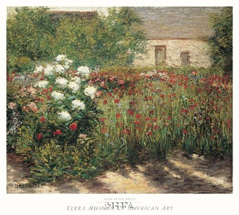 Framed Garden at Giverny, c. 1890 Print