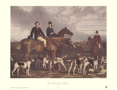 Framed Hevthorp Hunt Print