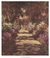 A Pathway in Monet's Garden at Giverny, c.1902  Fine Art Print