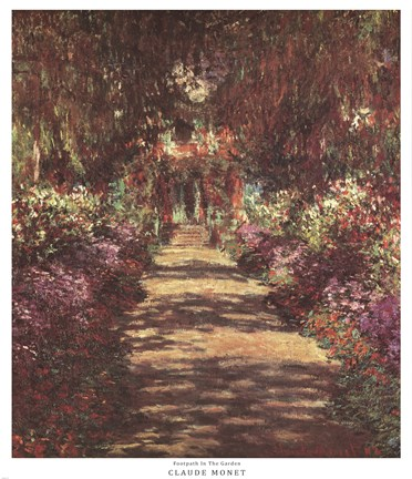 A Pathway In Monet S Garden At Giverny C 1902 Fine Art